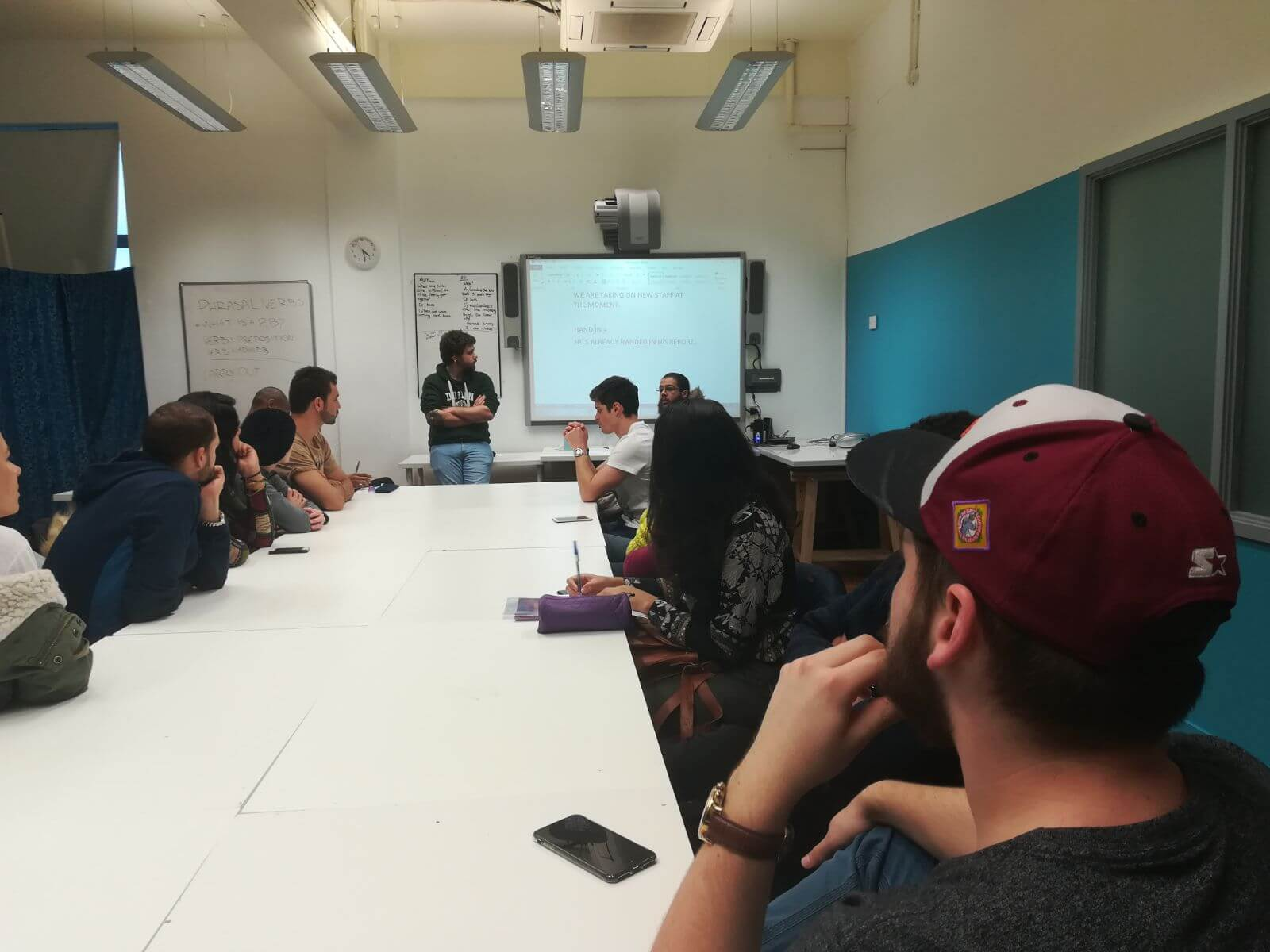 Students participating in our Conversation Class