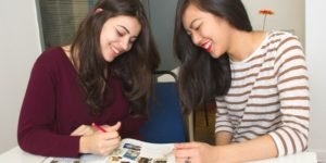 two-girls-learning-english