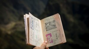 Passport filled with stamps