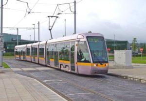 Luas city trains in Dublin