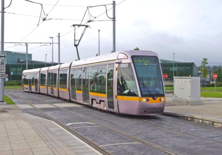Luas city trains in Dublin