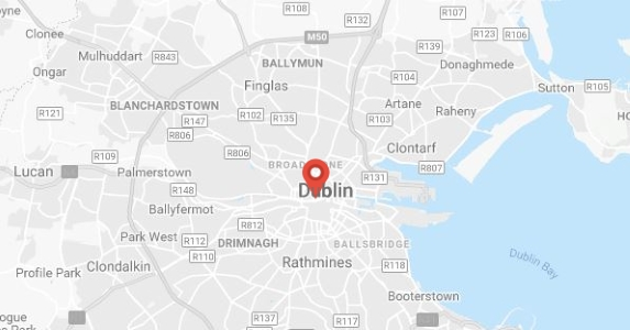 Map of Dublin showing Erin school at the center