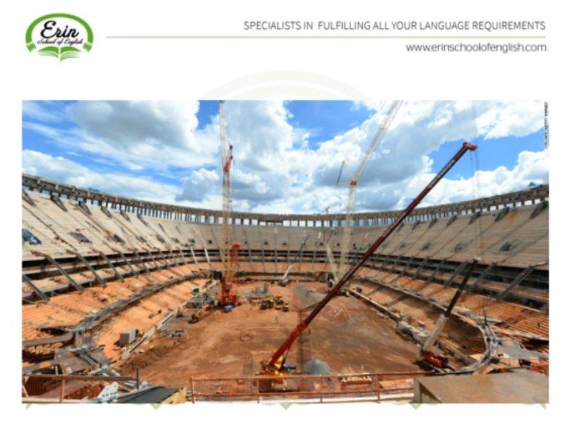 Stadium under construction